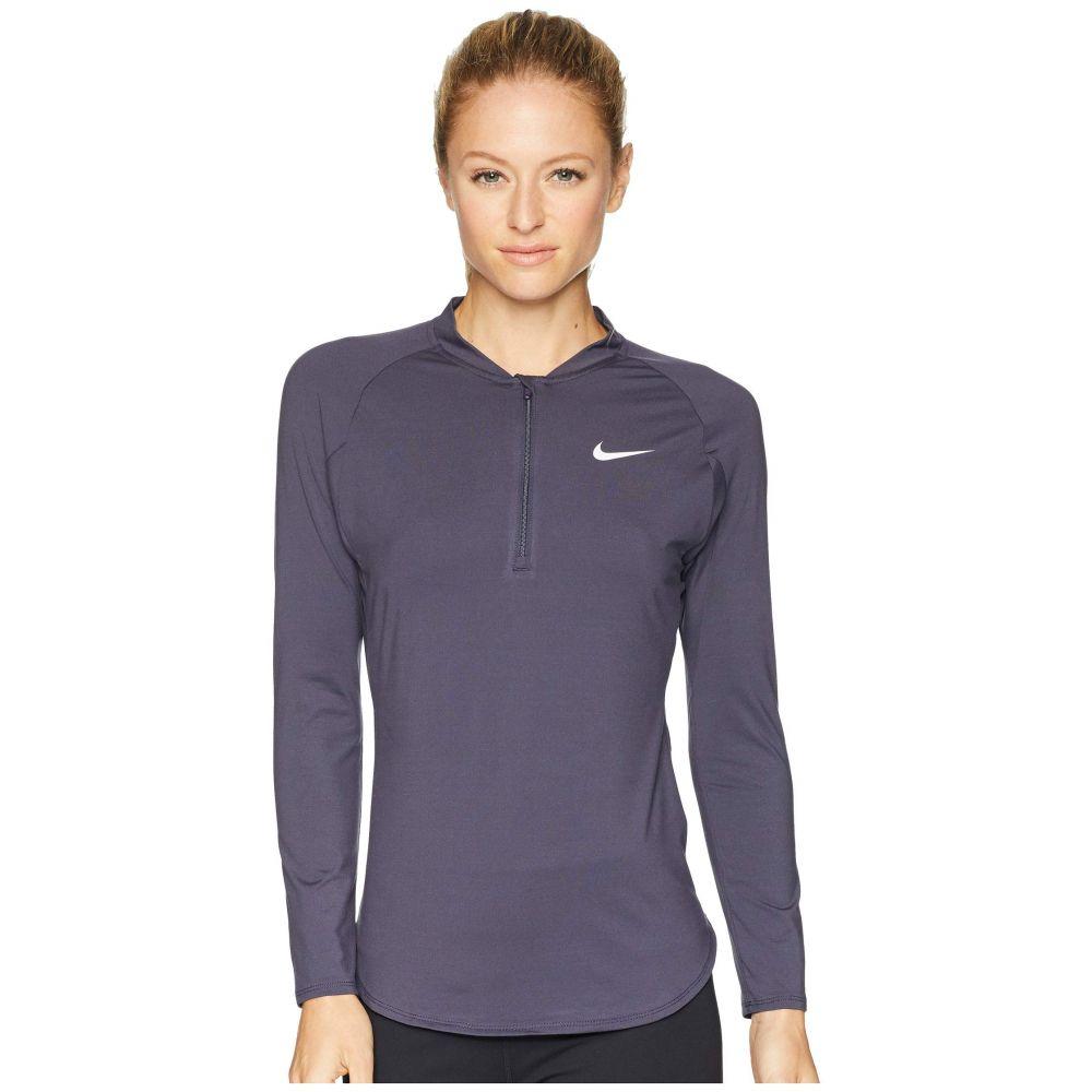 ナイキ Nike レディース テニス トップス【Court Pure Half-Zip Tennis Top】Gridiron/White