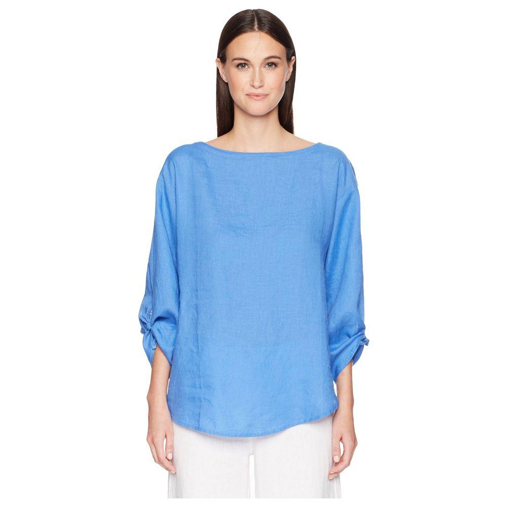 アイリーンフィッシャー Eileen Fisher レディース トップス ブラウス・シャツ【Organic Linen Tie-Sleeve Top】Blue Bell