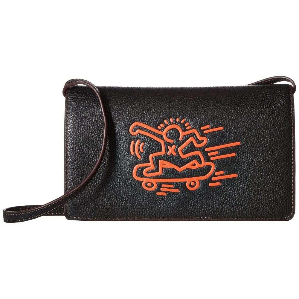 コーチ COACH レディース バッグ クラッチバッグ【Keith Haring Leather Fold-Over Clutch Crossbody】Black