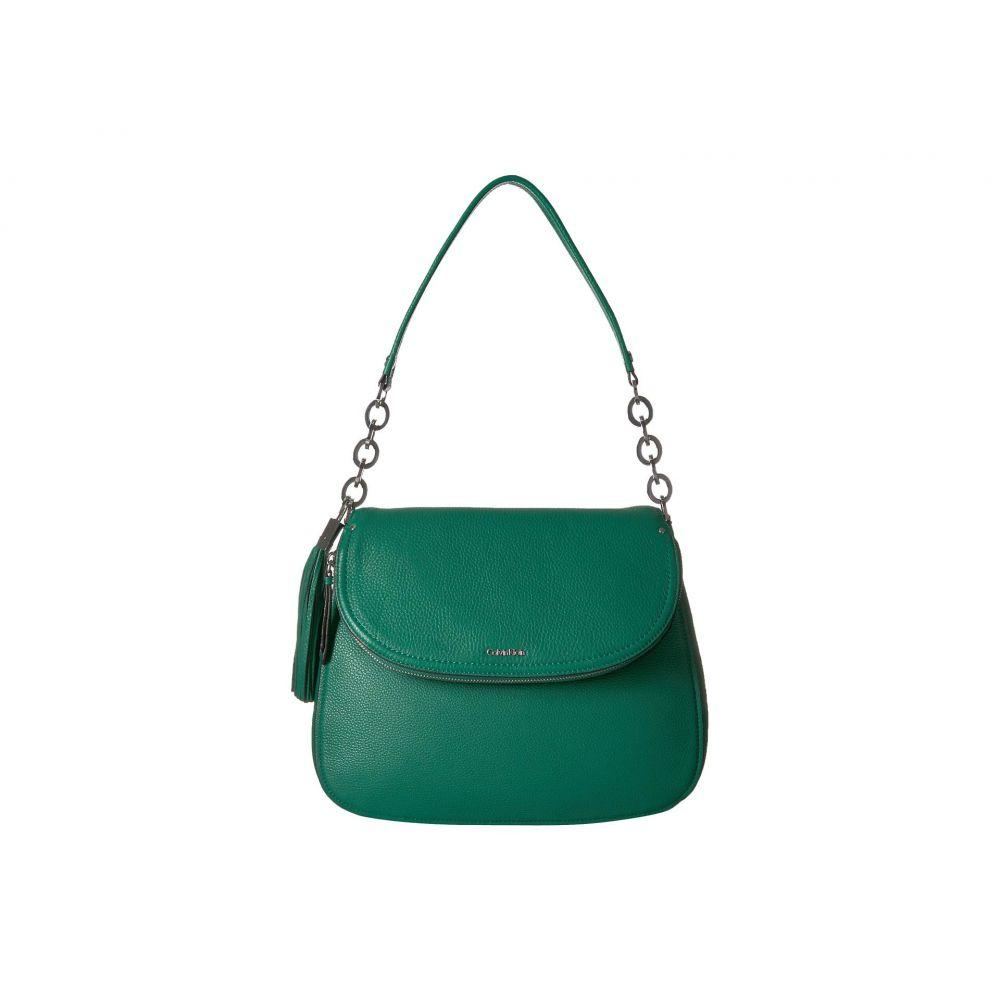 カルバンクライン Calvin Klein レディース バッグ ショルダーバッグ【Lynn Pebble Flap Hobo Shoulder Bag】Leaf