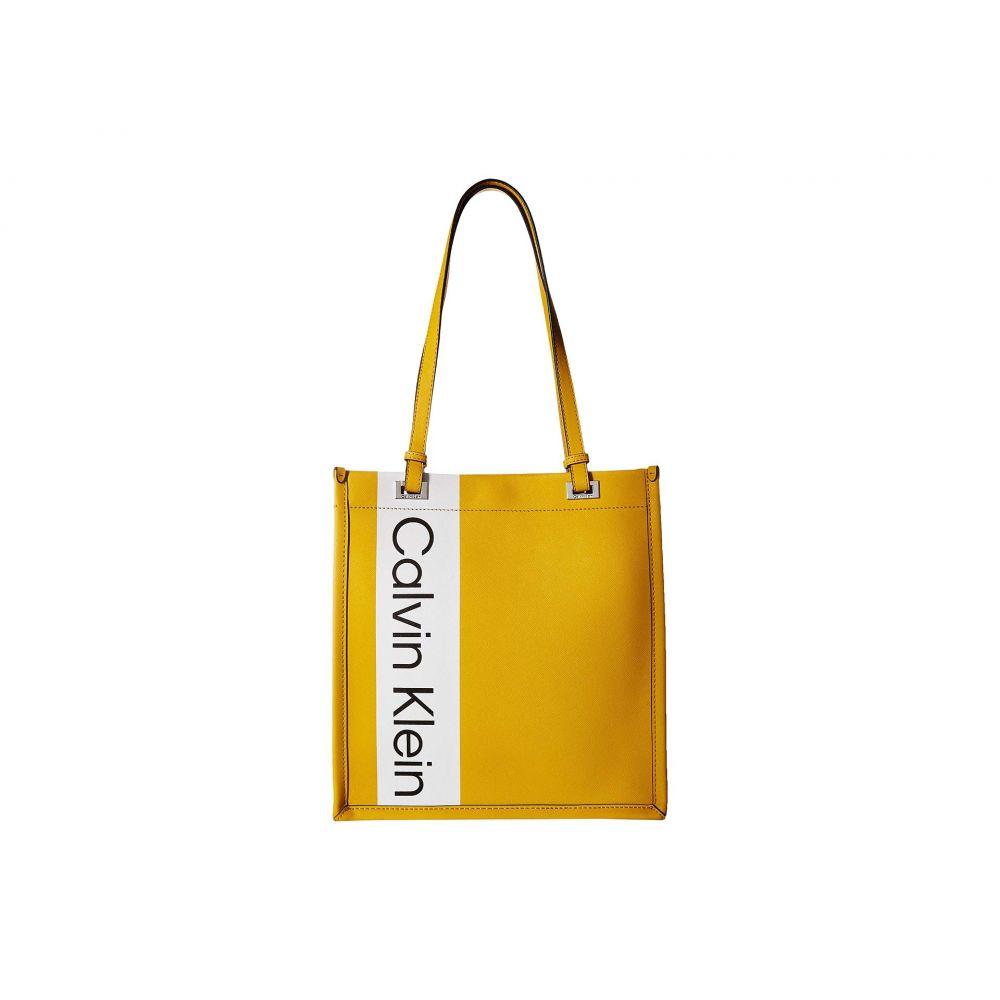 カルバンクライン Calvin Klein レディース バッグ トートバッグ【Saffiano Leather North/South Tote】Marigold/Marigold