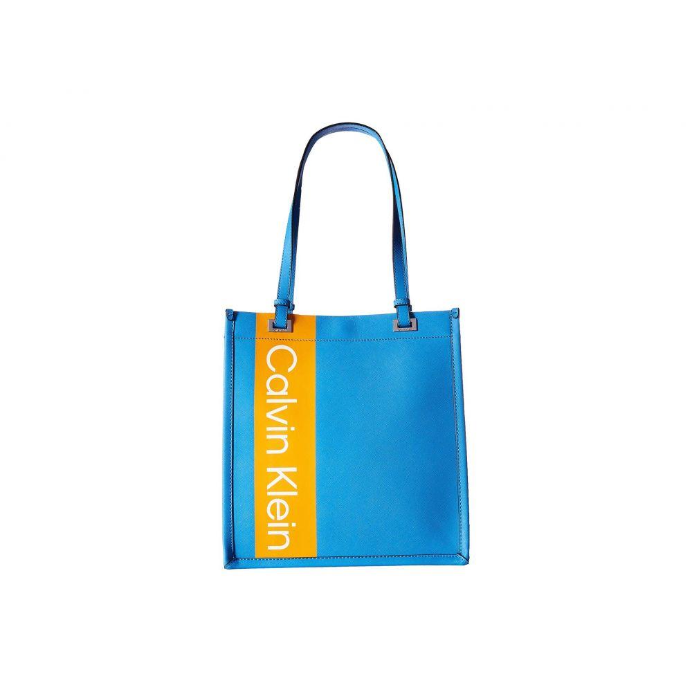 カルバンクライン Calvin Klein レディース バッグ トートバッグ【Saffiano Leather North/South Tote】Air Blue Multi