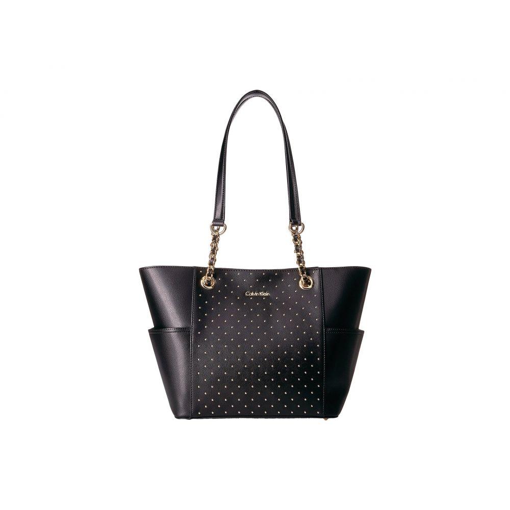 カルバンクライン Calvin Klein レディース バッグ トートバッグ【Key Item Studded Tote】Black/Gold