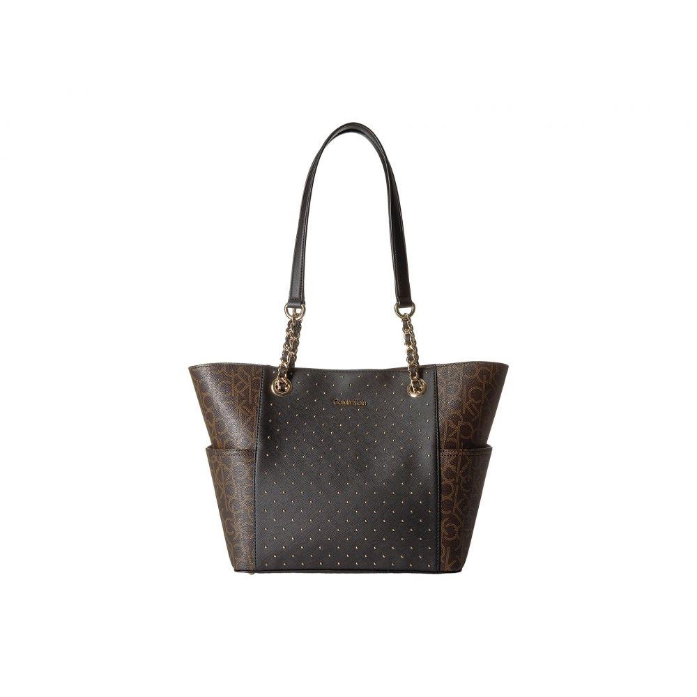 カルバンクライン Calvin Klein レディース バッグ トートバッグ【Key Item Studded Tote】Brown/Khaki/Black