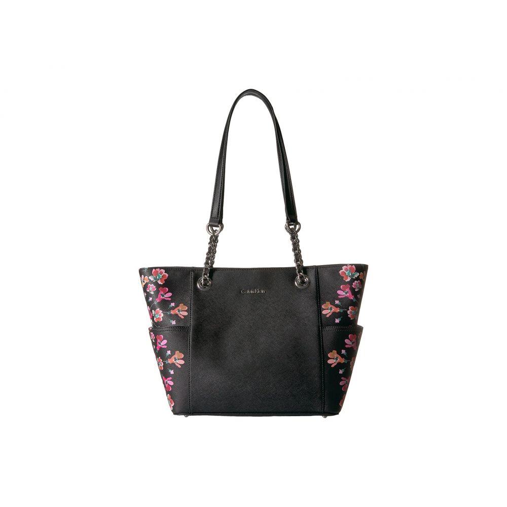 カルバンクライン Calvin Klein レディース バッグ トートバッグ【Key Item Floral Printed Saffiano Chain Tote】Black Floral