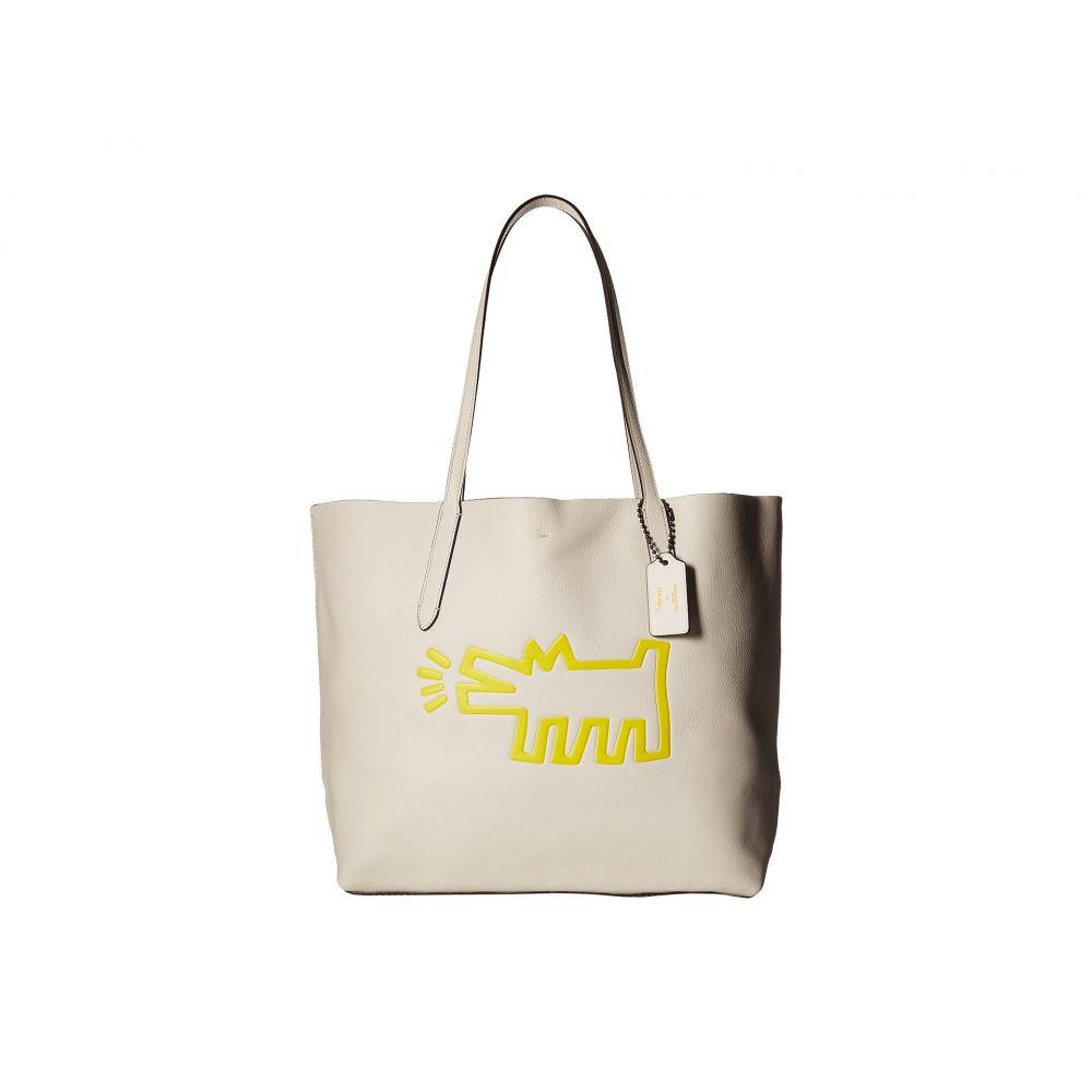 コーチ COACH レディース バッグ トートバッグ【Keith Haring Hudson Leather Tote】Chalk