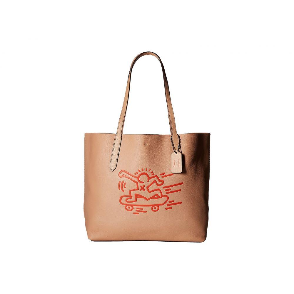 コーチ COACH レディース バッグ トートバッグ【Keith Haring Hudson Leather Tote】Nude Pink