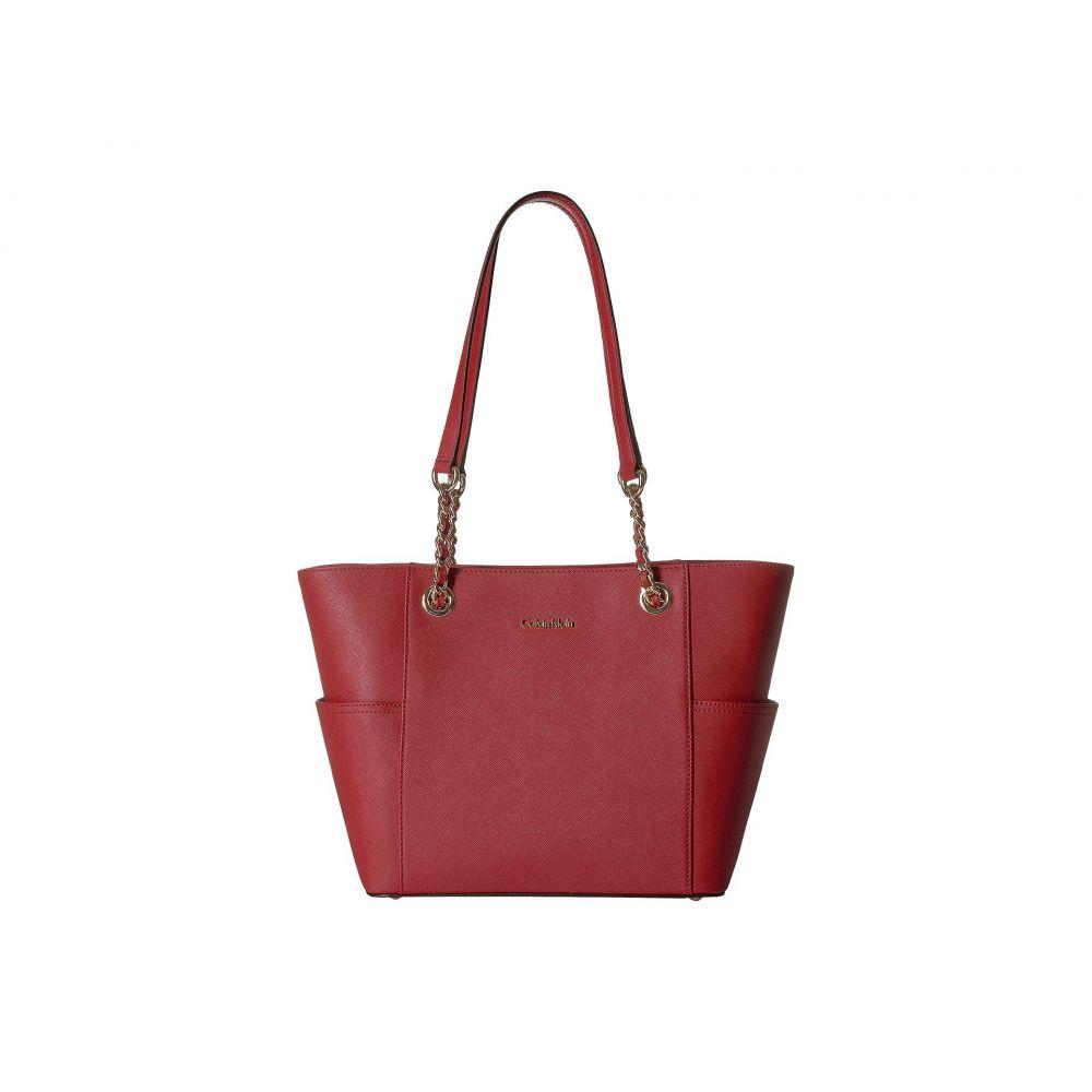 カルバンクライン Calvin Klein レディース バッグ トートバッグ【Saffiano Chain Tote】Red