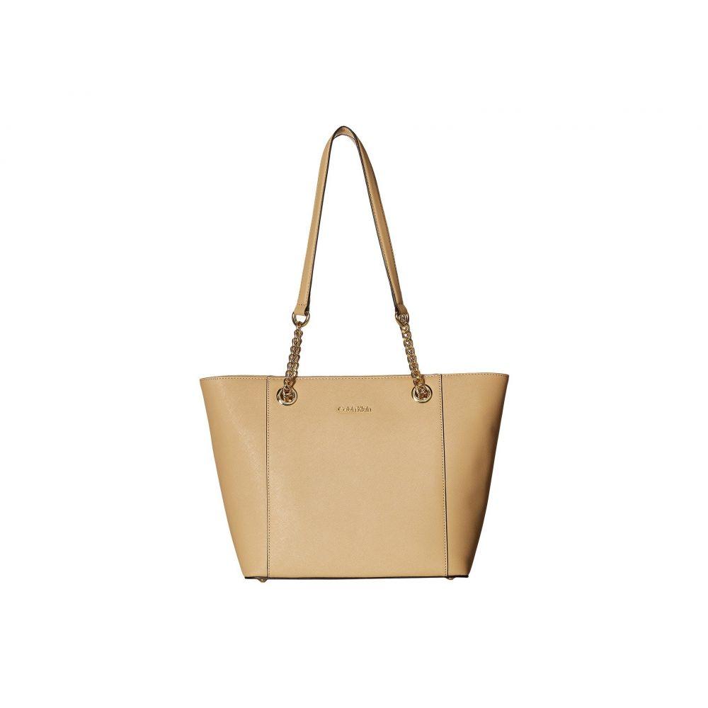 カルバンクライン Calvin Klein レディース バッグ トートバッグ【Saffiano Tote】Nude/Gold
