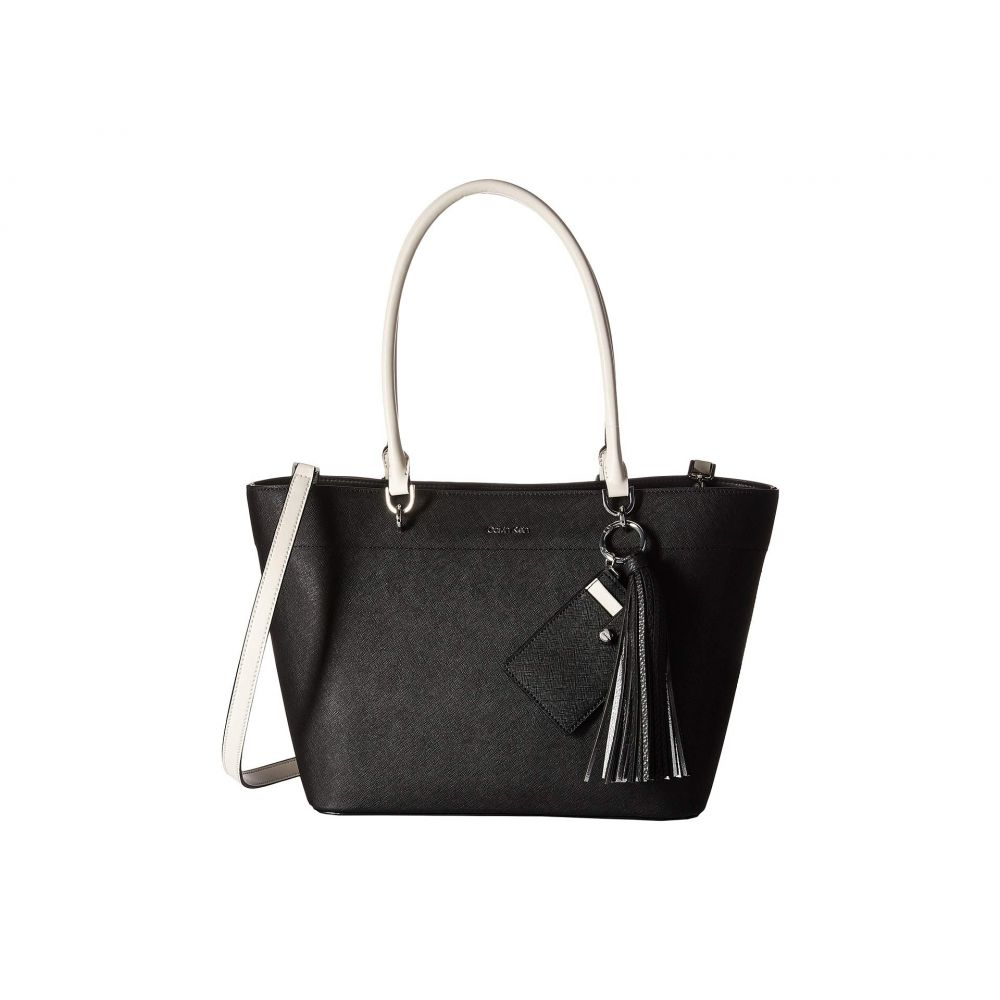 カルバンクライン Calvin Klein レディース バッグ トートバッグ【Susan Small Saffiano Leather Tote】Black/White