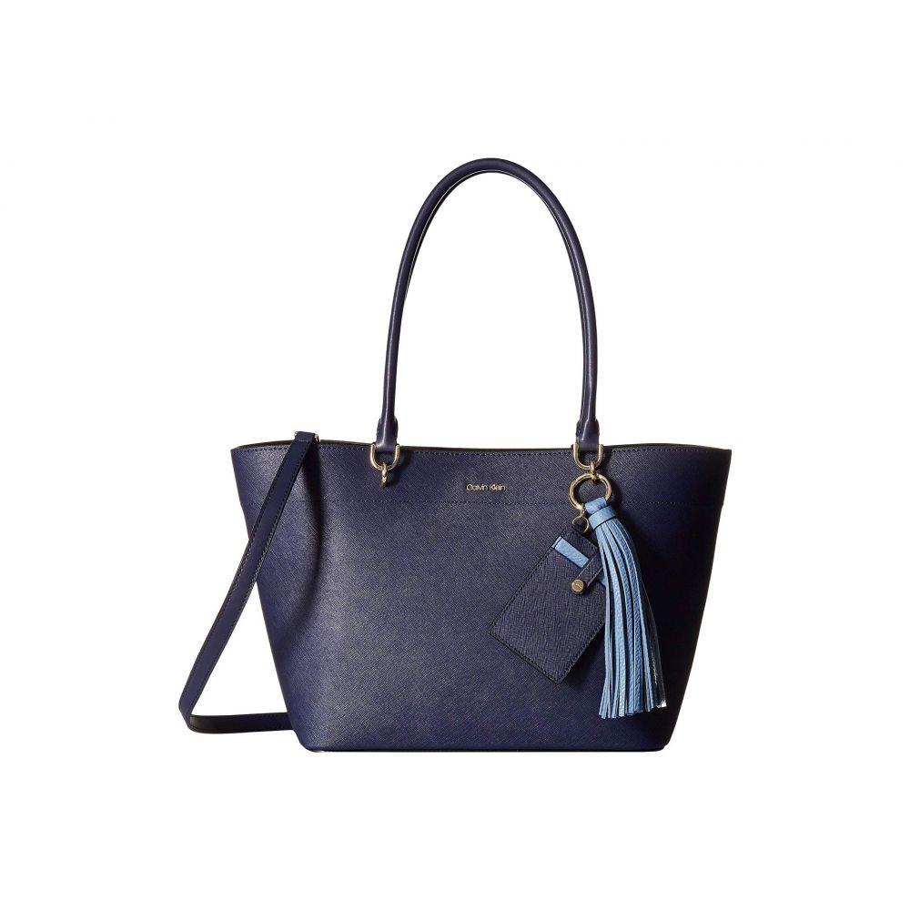 カルバンクライン Calvin Klein レディース バッグ トートバッグ【Susan Small Saffiano Leather Tote】Black/Plum