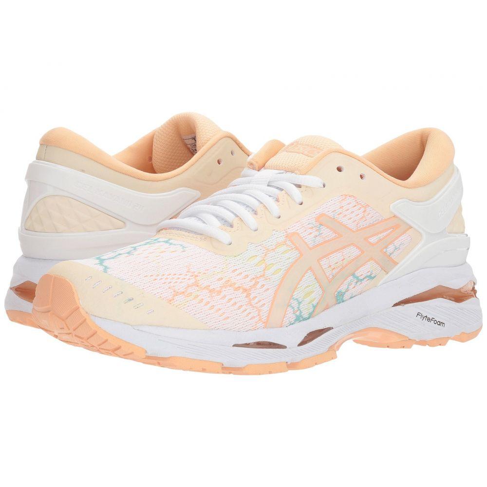 アシックス ASICS レディース ランニング・ウォーキング シューズ・靴【GEL-Kayano 24 Lite-Show】White/White/Apricot Ice
