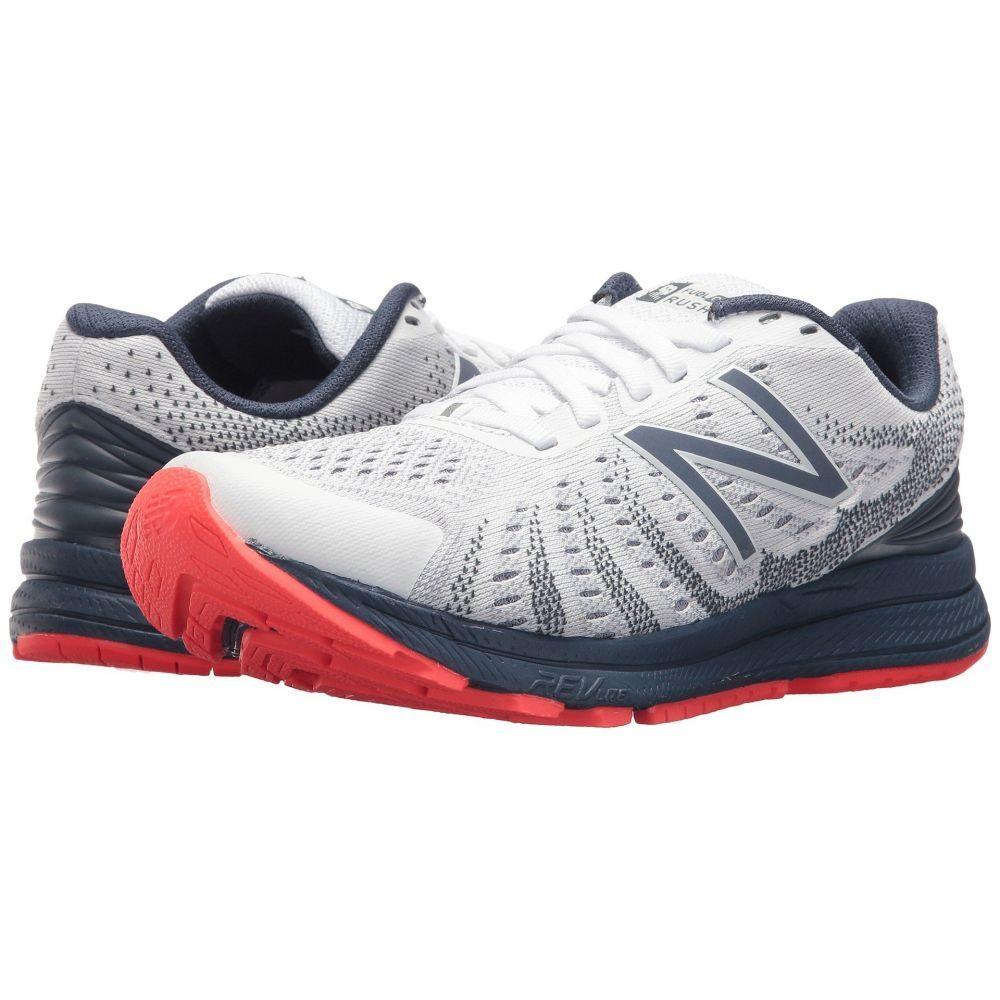 ニューバランス New Balance レディース ランニング・ウォーキング シューズ・靴【Rush V3】White/Vintage Indigo/Vivid Coral
