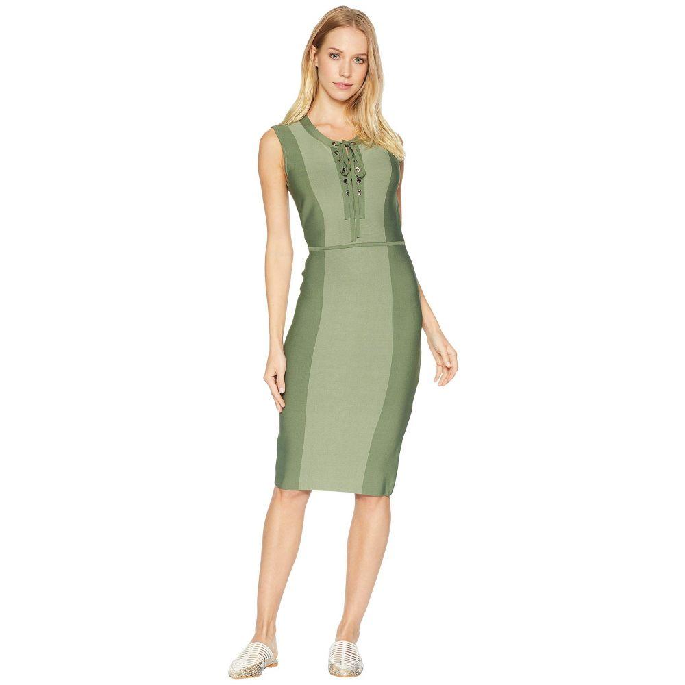 ビーシービージーマックスアズリア BCBGMAXAZRIA レディース ワンピース・ドレス ワンピース【Safari Fitted Dress】Earth Green Combo