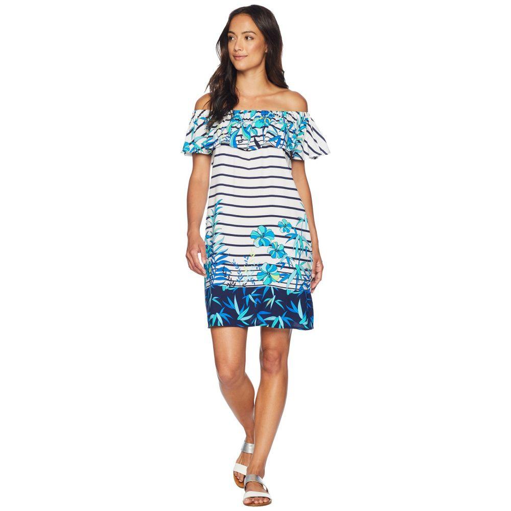 トミー バハマ Tommy Bahama レディース バハマ Over 水着 Ruffle・ビーチウェア ビーチウェア【Tropical Engineered Over the Shoulder Ruffle Dress Cover-Up】White, 直川村:ecbb76e9 --- officewill.xsrv.jp