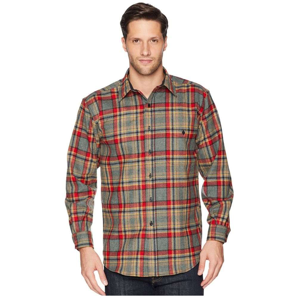ペンドルトン Pendleton メンズ トップス シャツ【L/S Trail Shirt w/ Elbow Patch】Camp Green Heather Plaid