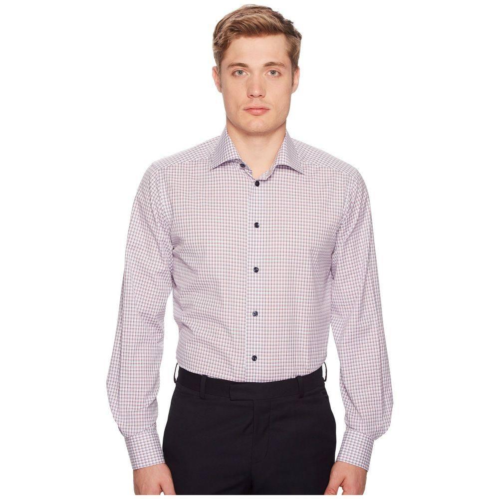 イートン Eton メンズ トップス シャツ【Contemporary Fit Check Shirt】Red/Blue