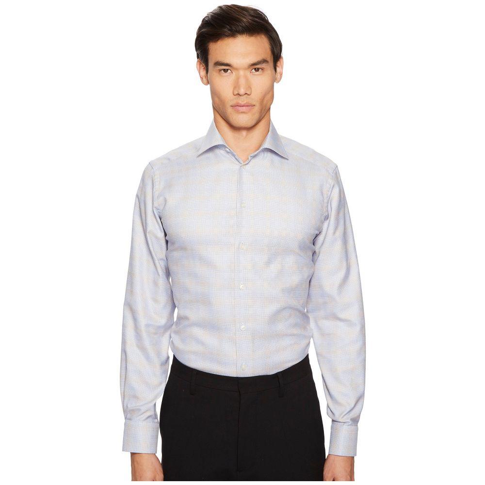 イートン Eton メンズ トップス シャツ【Contemporary Fit Plaid Shirt】Blue/Brown