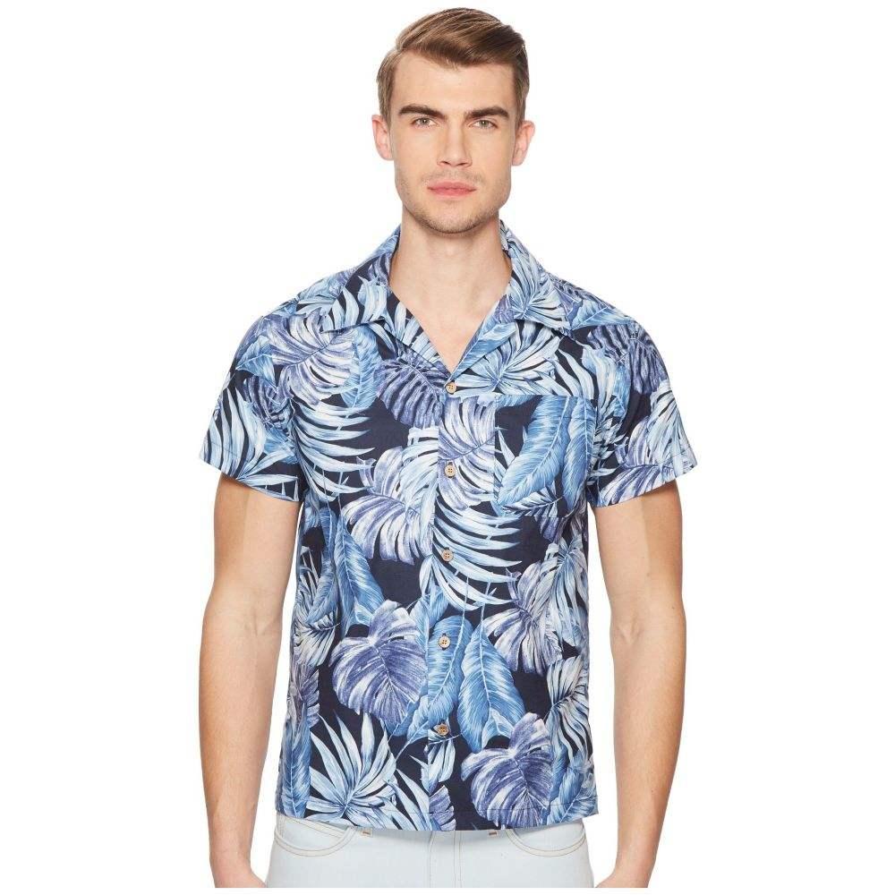 ネイキッド アンド フェイマス Naked & Famous メンズ トップス シャツ【Tropical Leaves Shirt】Navy
