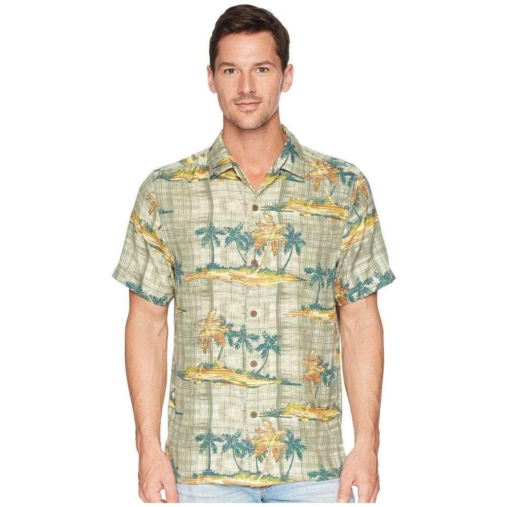 トミー バハマ Tommy Bahama メンズ トップス シャツ【Zama Palms IslandZone Camp Shirt】Tea Leaf