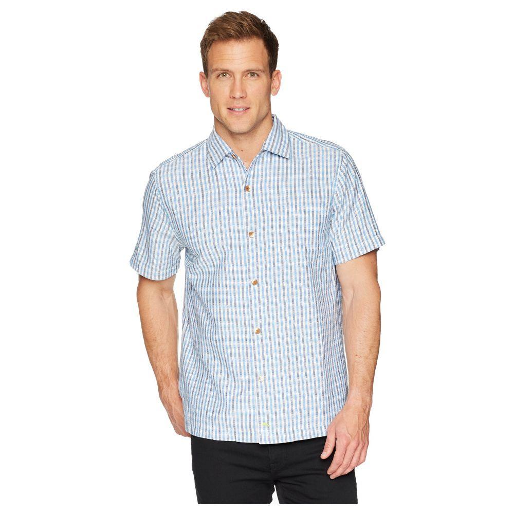 トミー バハマ Tommy Bahama メンズ トップス シャツ【Casa Check Camp Shirt】Blue Spark