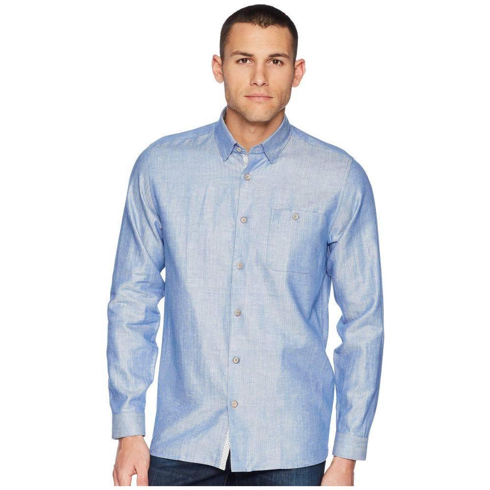 テッドベーカー Ted Baker メンズ トップス シャツ【Linlins Long Sleeve Linen Woven Shirt】Blue