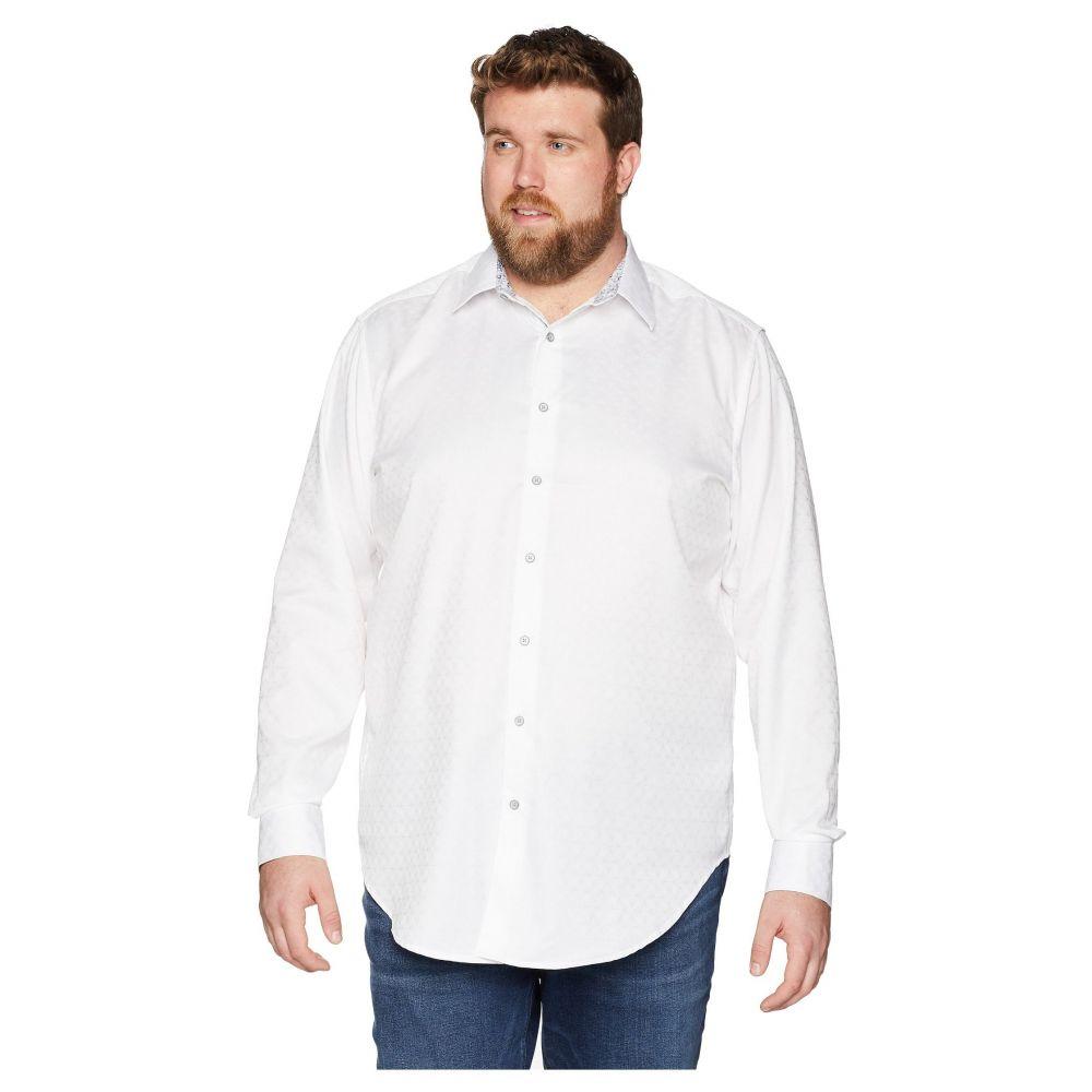ロバートグラハム Robert Graham メンズ トップス シャツ【Big & Tall Diamante Long Sleeve Woven Shirt】White (Tall)