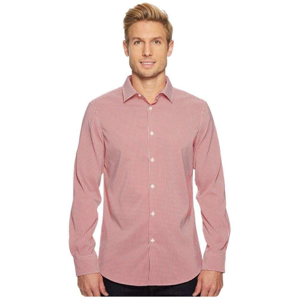 ペリー エリス Perry Ellis メンズ トップス シャツ【Mini Check Total Stretch Dress Shirt】Haute Red