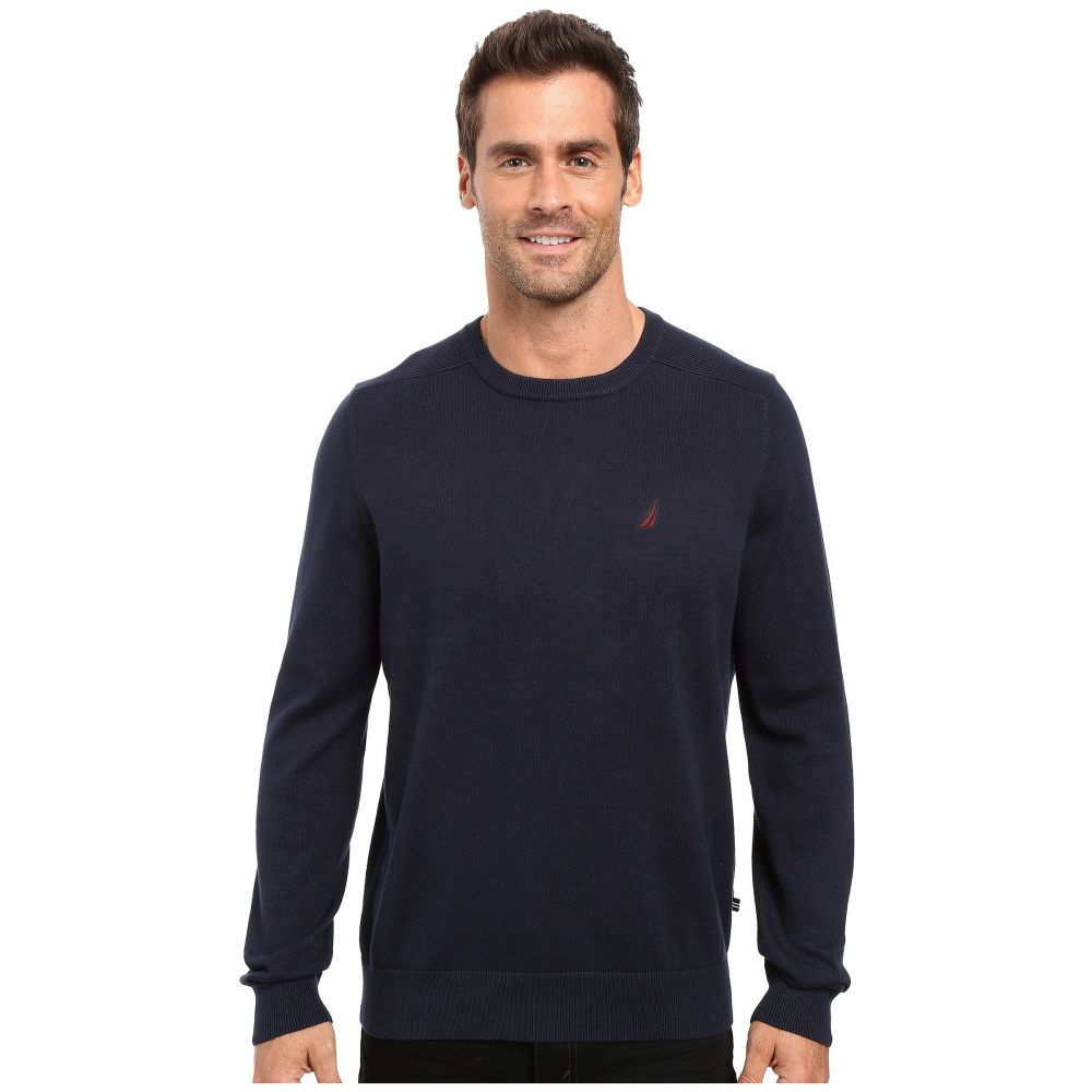 ノーティカ Nautica メンズ トップス ニット・セーター【Solid Crew Neck Sweater】Navy