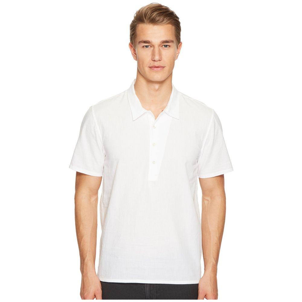 ビリー レイド Billy Reid メンズ トップス ポロシャツ【Mickey Short Sleeve Pullover Shirt】White
