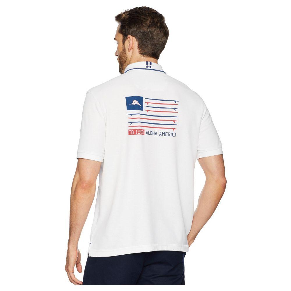 トミー バハマ Tommy Bahama メンズ トップス ポロシャツ【Aloha America Polo Shirt】White