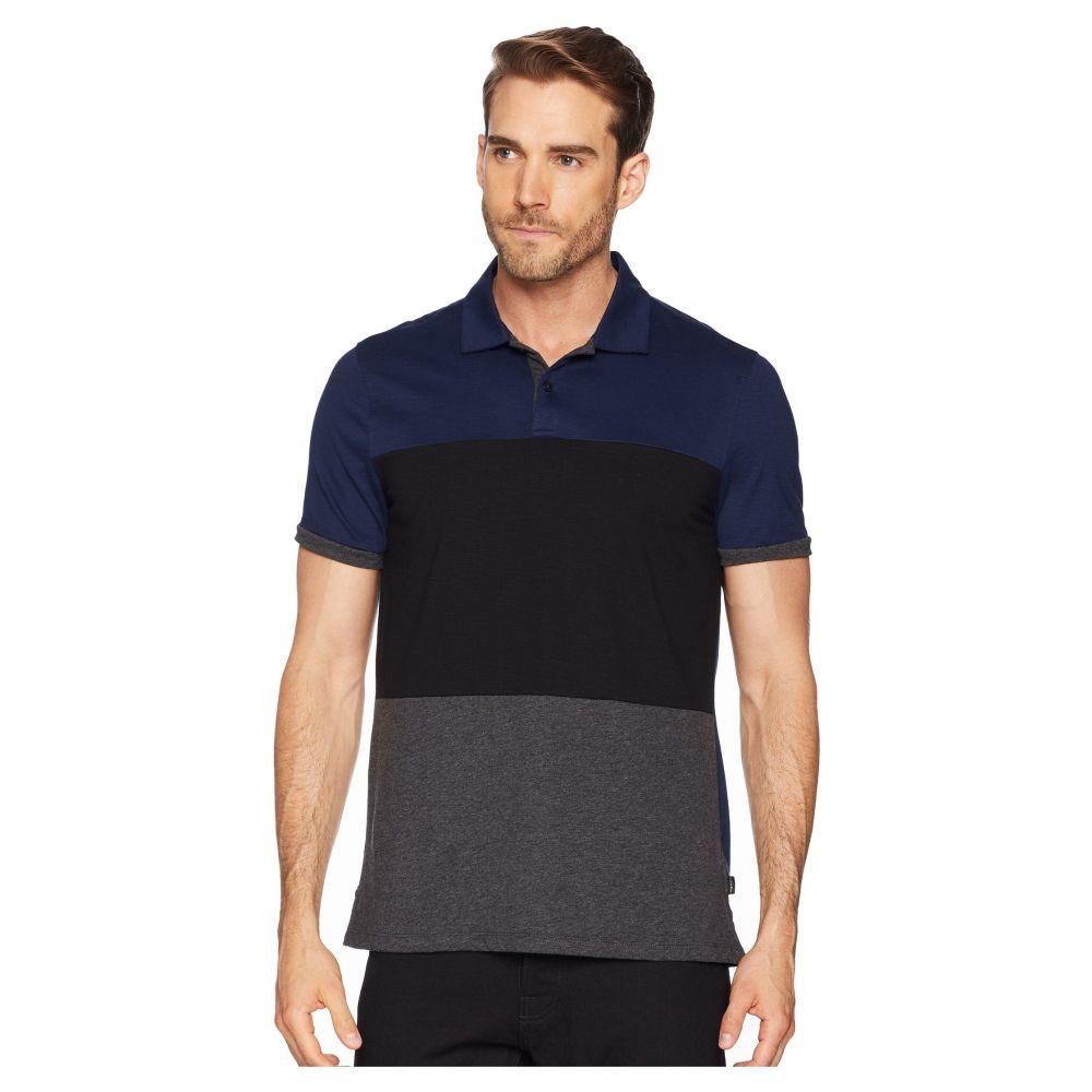 カルバンクライン Calvin Klein メンズ トップス ポロシャツ【Short Sleeve Color Blocked Self Collar Polo】Atlantis Combo