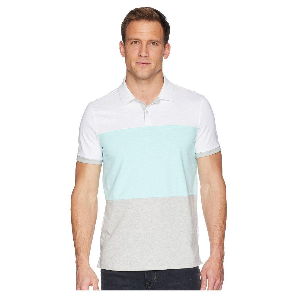 カルバンクライン Calvin Klein メンズ トップス ポロシャツ【Short Sleeve Color Blocked Self Collar Polo】Stand White Combo