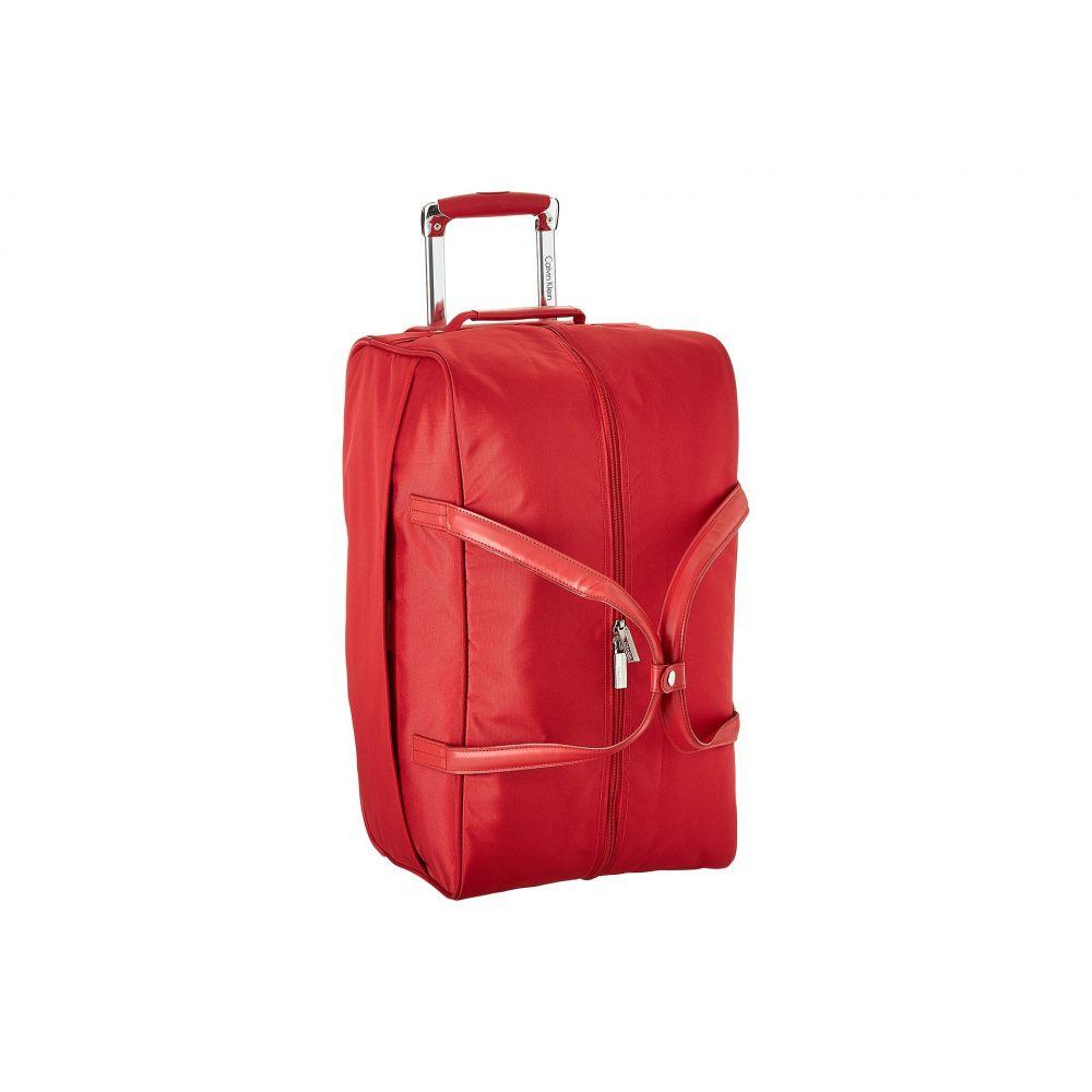 カルバンクライン Calvin Klein メンズ バッグ スーツケース・キャリーバッグ【Greenwich 2.0 22 Wheeled Duffel】Red