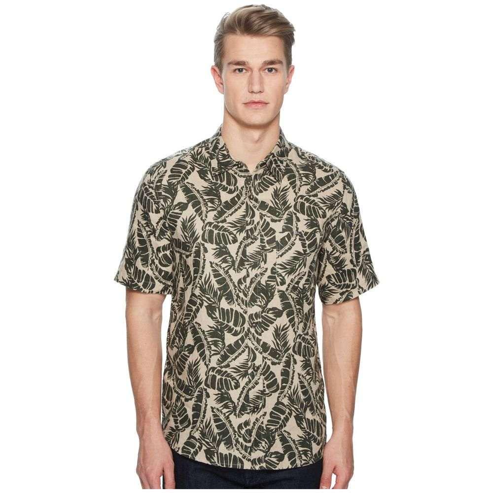 ボールドウィンデニム BALDWIN メンズ トップス 半袖シャツ【Vista Palm Leaf Short Sleeve Shirt】Green
