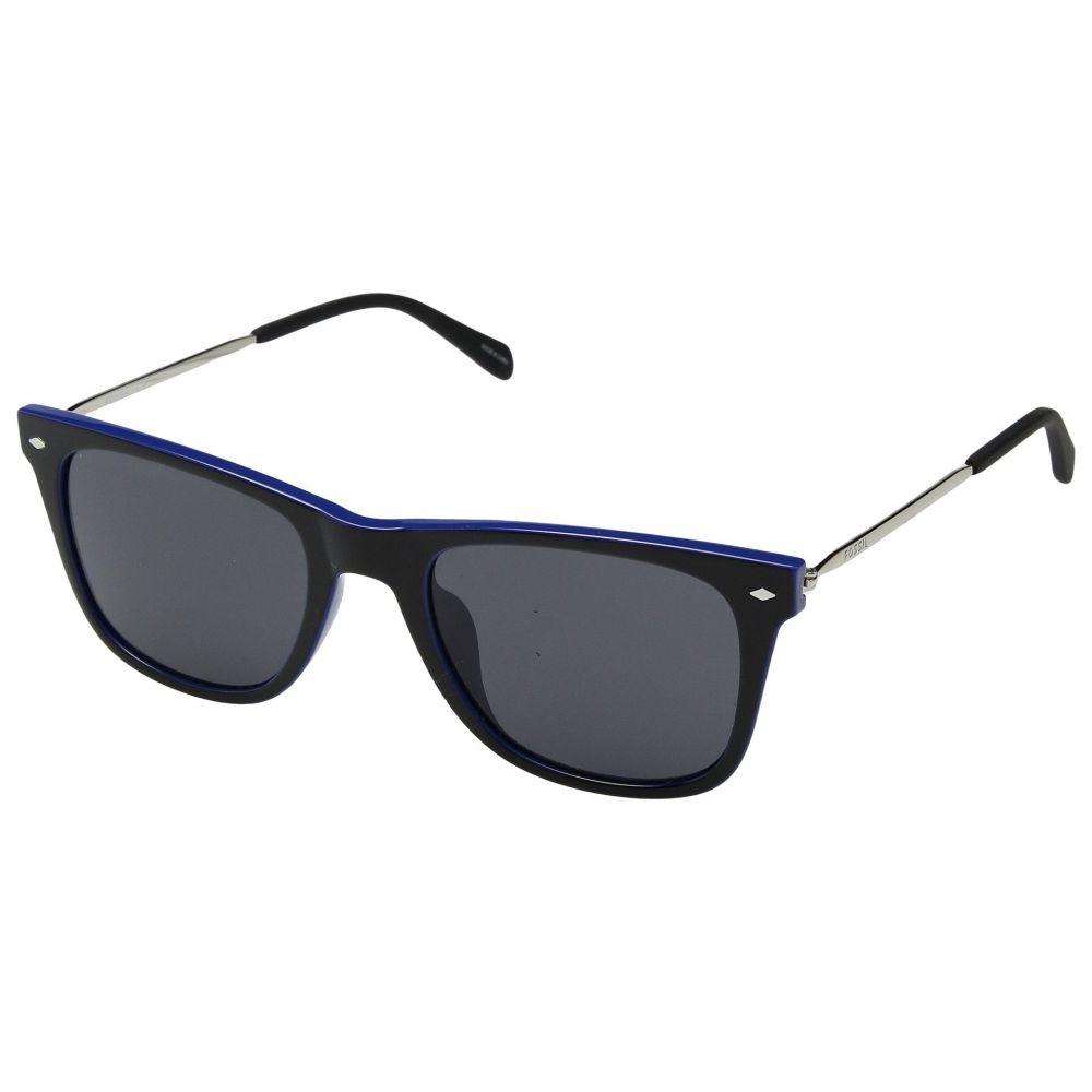 フォッシル Fossil メンズ メガネ・サングラス【3068/S】Black/Blue