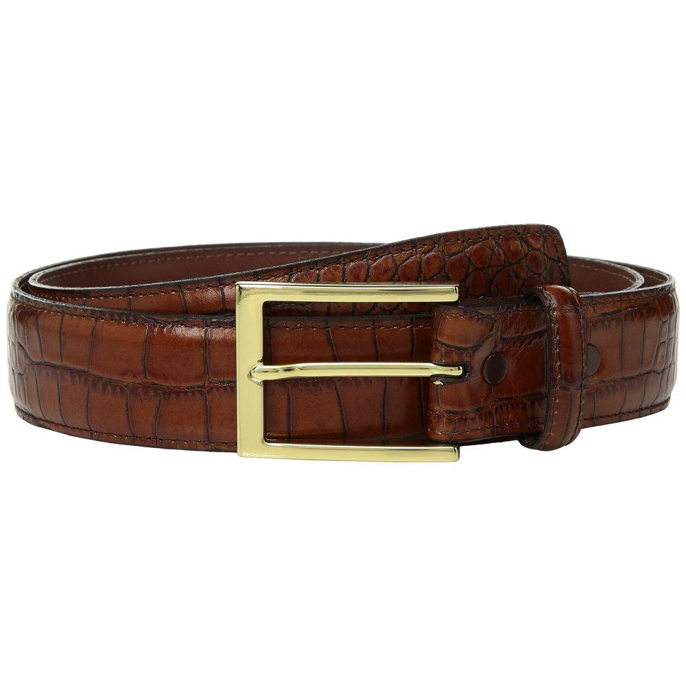 トリノレザー Torino Leather Co. メンズ ベルト【35mm Gator Grain Embossed Calf】Cognac