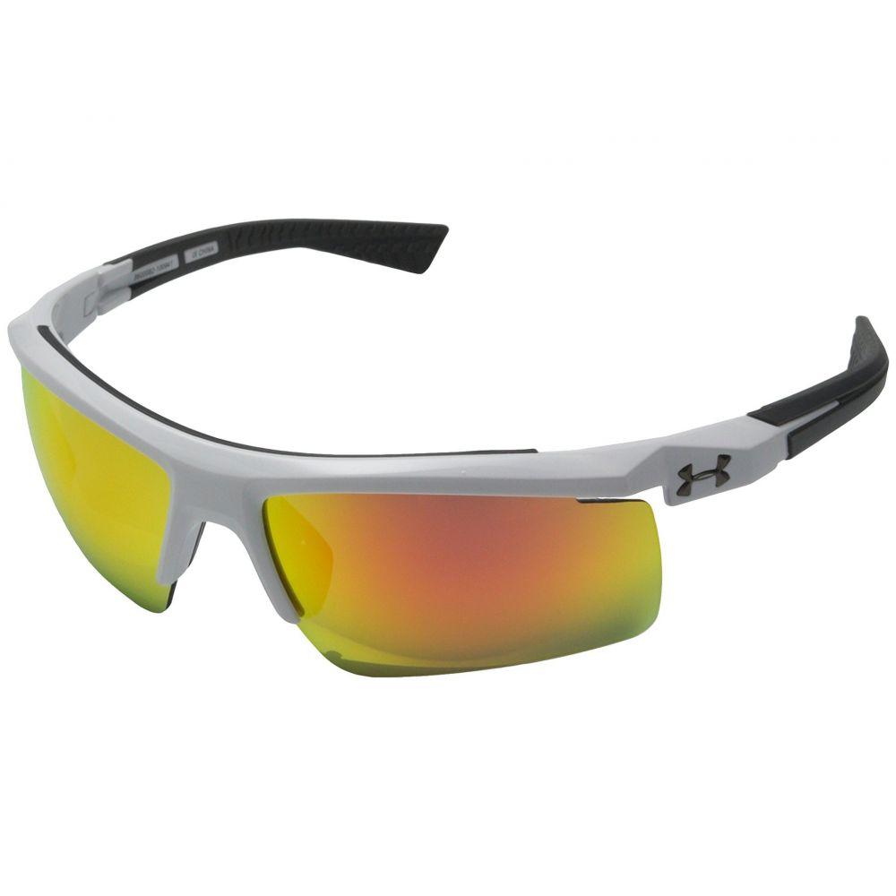 アンダーアーマー Under Armour メンズ スポーツサングラス【Core 2.0】Shiny White/Charcoal Gray Frame/Gray/Orange Multiflection Lens