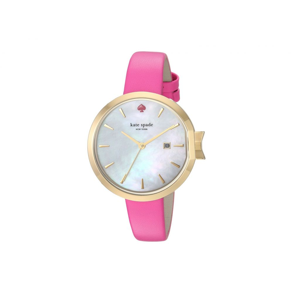 ケイト スペード Kate Spade New York レディース 腕時計【34mm Park Row Watch - KSW1268】Silver/Pink