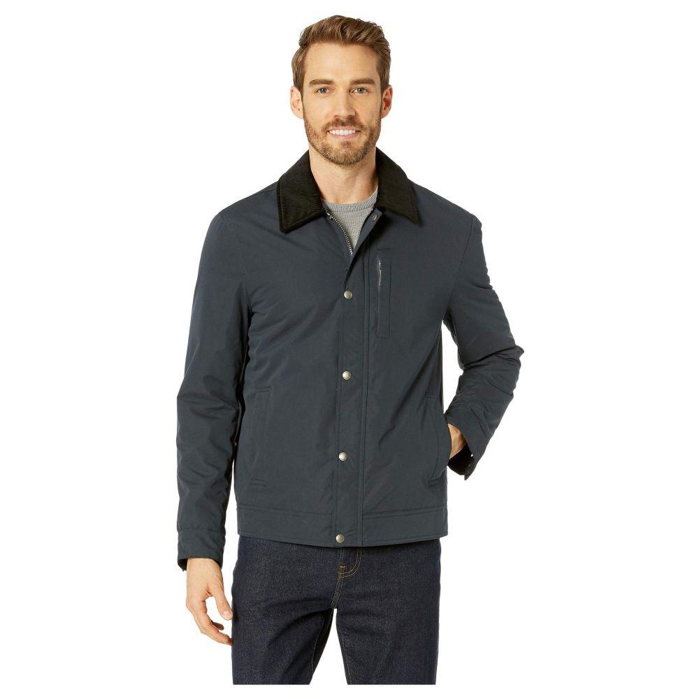 コールハーン Cole Haan メンズ アウター レインコート【City Rain Padded Barn Jacket with Corduroy Collar】Navy