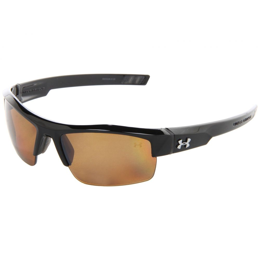アンダーアーマー Under Armour レディース スポーツサングラス【UA Igniter Polarized】Shiny Black/Brown Polarized Multiflection