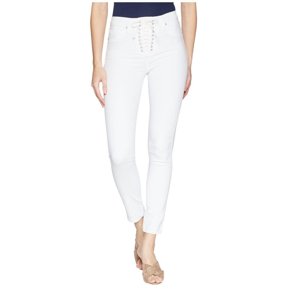 ハドソン Hudson レディース ボトムス・パンツ ジーンズ・デニム【Bullocks High-Rise Lace-Up Skinny Jeans in Optical White】Optical White