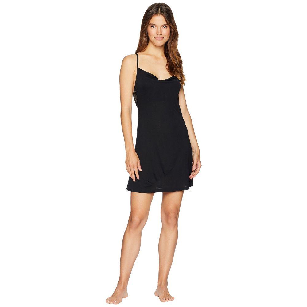 オンリー ハーツ Only Hearts レディース インナー・下着 パジャマ・トップのみ【Venice Cowl Slip Dress】Black