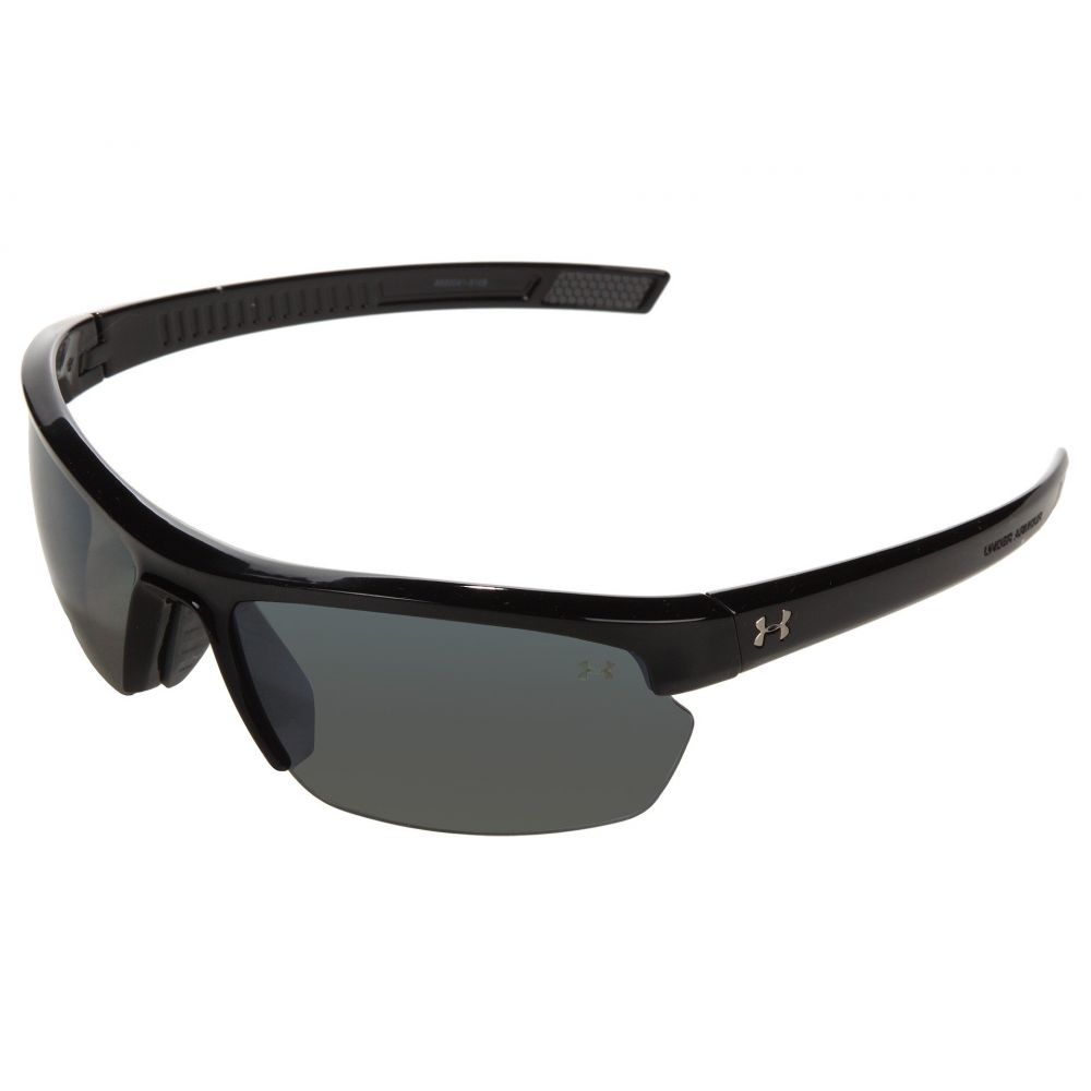 アンダーアーマー Under Armour レディース スポーツサングラス【UA Stride XL Polarized】Shiny Black/Gray Polarized Multiflection