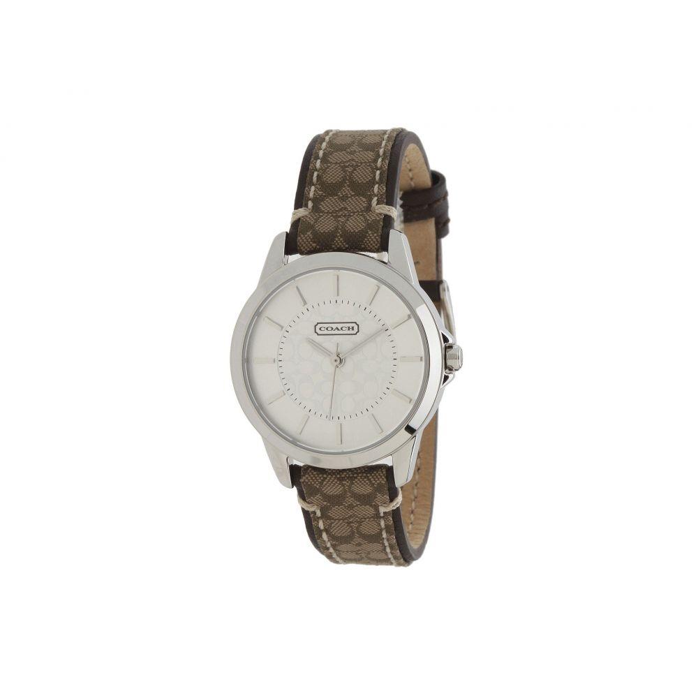 コーチ COACH レディース 腕時計【Classic Signature Strap Watch】Silver/Khaki