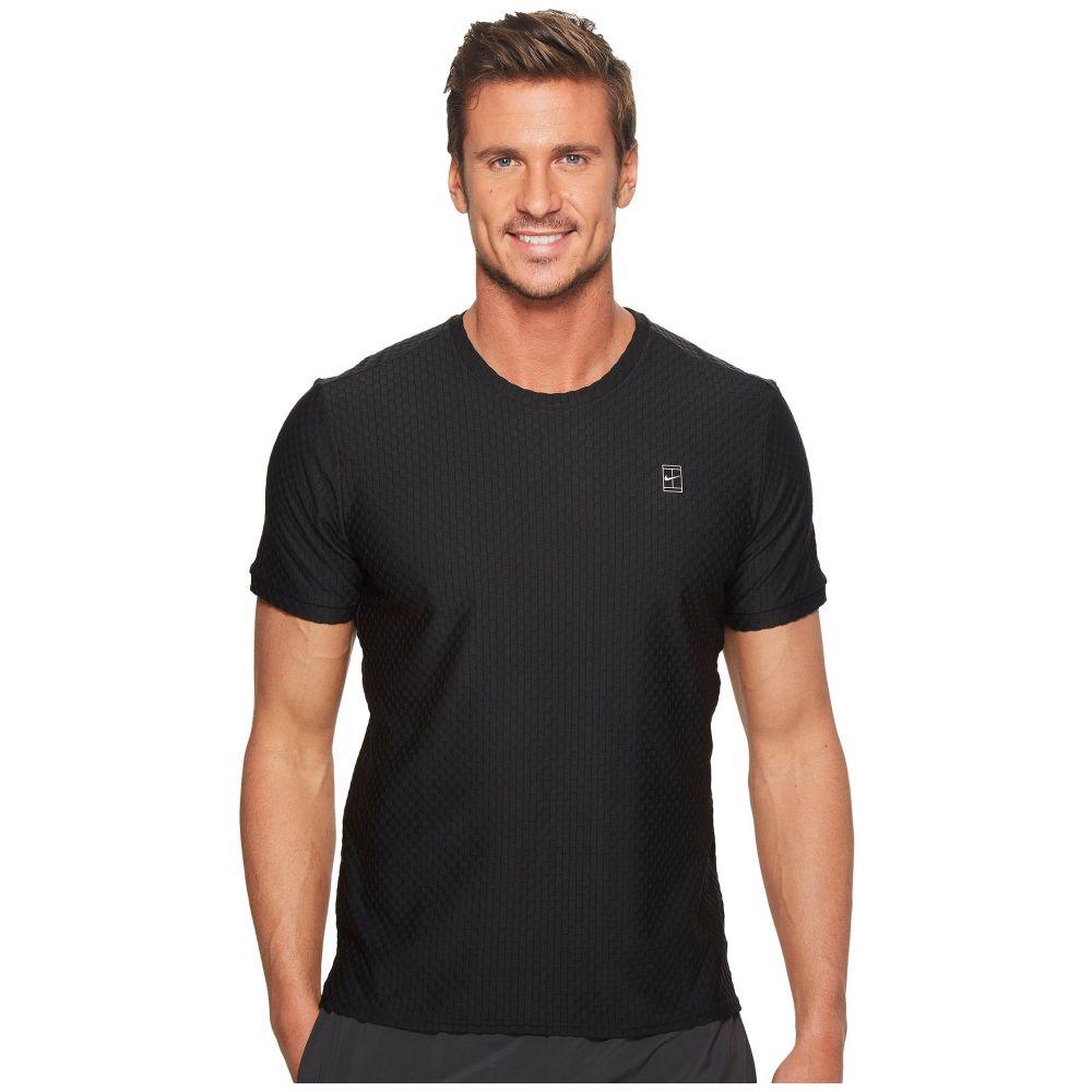 ナイキ Nike メンズ テニス トップス【Court Short Sleeve Tennis Top】Black/Black