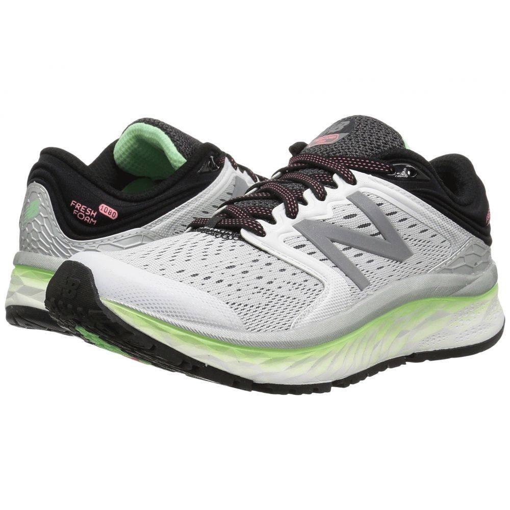 ニューバランス New Balance レディース ランニング・ウォーキング シューズ・靴【Fresh Foam 1080v8】White/Lime Glo/Black