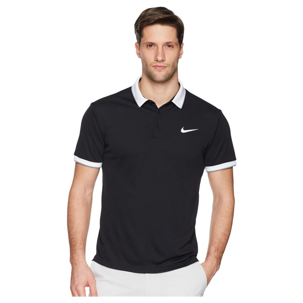 ナイキ Nike メンズ テニス トップス【Court Dry Tennis Polo】Black/White/Cool Grey/White 1