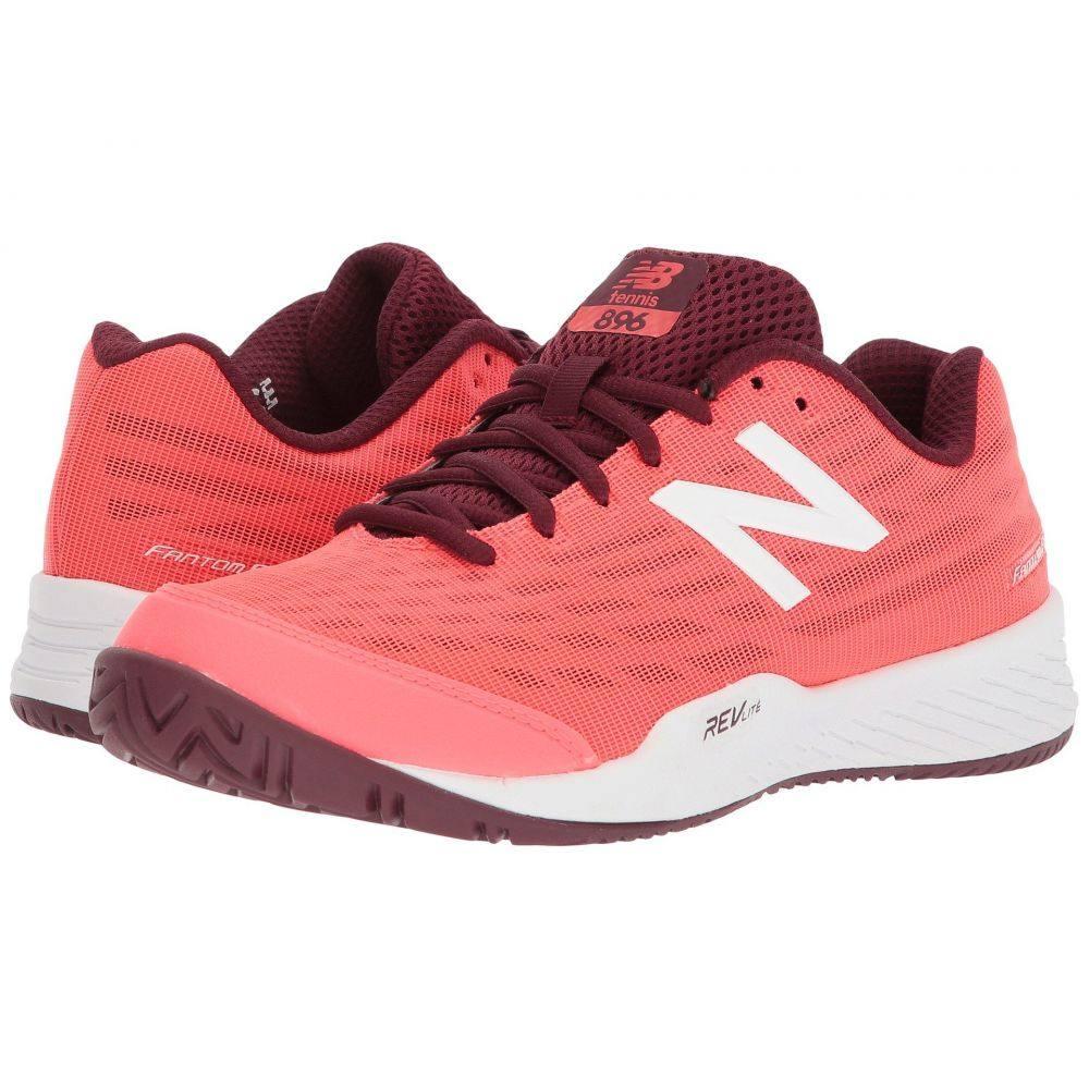 ニューバランス New Balance レディース テニス シューズ・靴【896v2】Vivid Coral/Vivid Coral