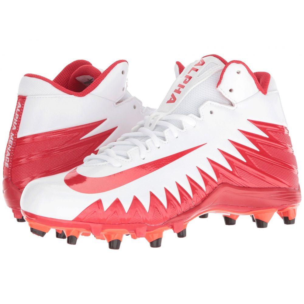 ナイキ Nike メンズ アメリカンフットボール シューズ・靴【Alpha Menace Varsity Mid】White/University Red/Total Crimson